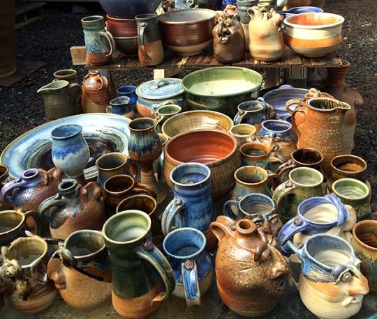 Pots unloaded from Wood Fire XIII